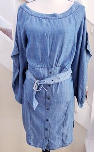 Current Air Chambray Dress Lyocell NWT Buttons